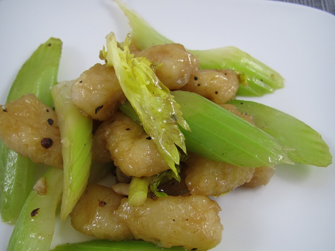 Stir Fry Fish with Celery