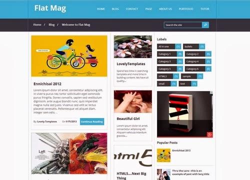 Flat Mag Template - Mẫu Blogspot tin tức, thủ thuật hỗ trợ Adsense
