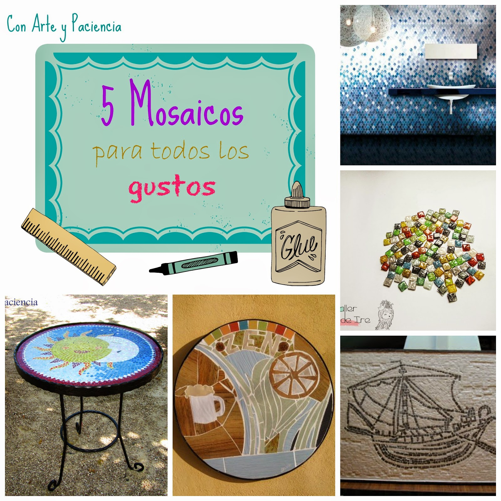 mosaicos,mosaics,diy,hechos,manoforja,madera,teselas,cristal,tiffany,rulina,cuadro,cd