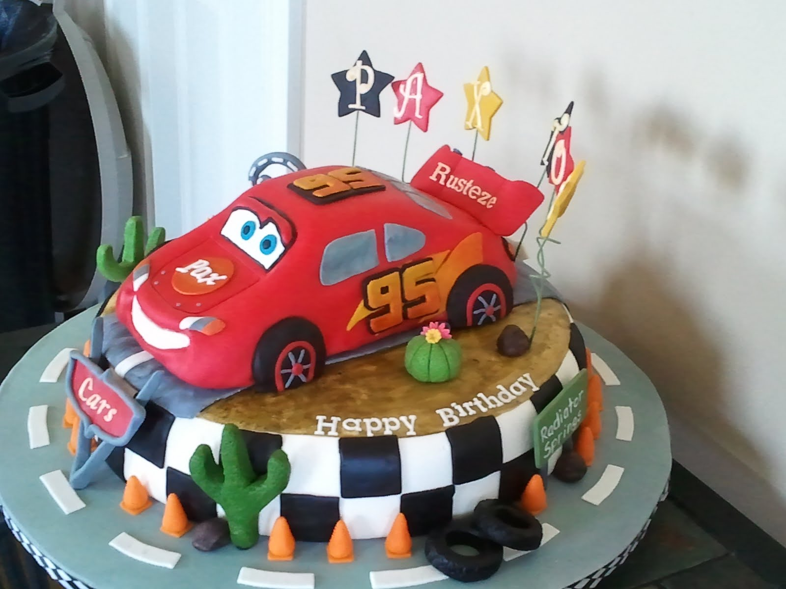 ... and he wanted a cars cake for his birthday party i got a few great