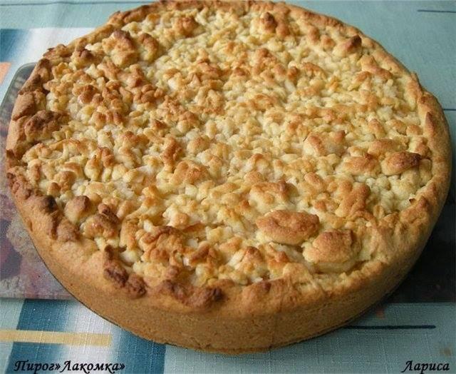 Пирог с творогом лакомка рецепт с