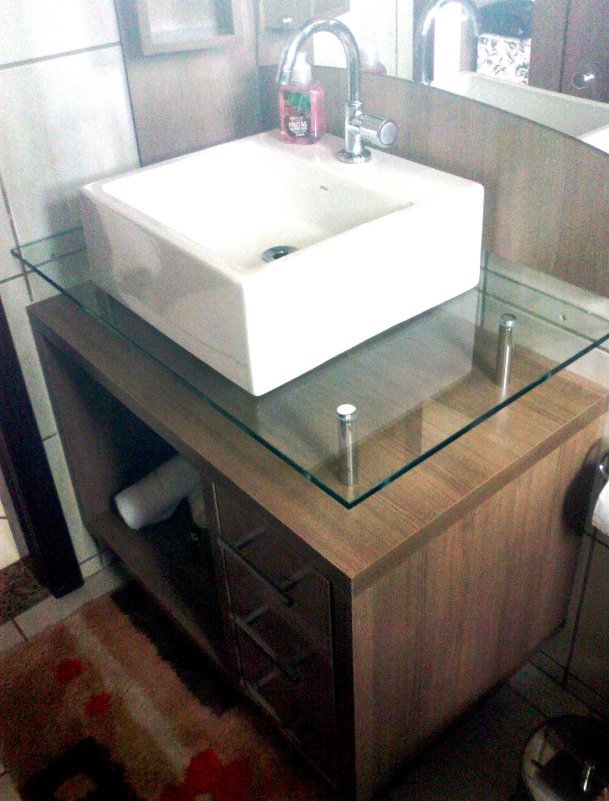 Armário para pia de banheiro MDF  Vitória Móveis sob medida -> Altura De Pia De Banheiro