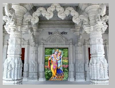 Entrance to Prem Mandir Temple