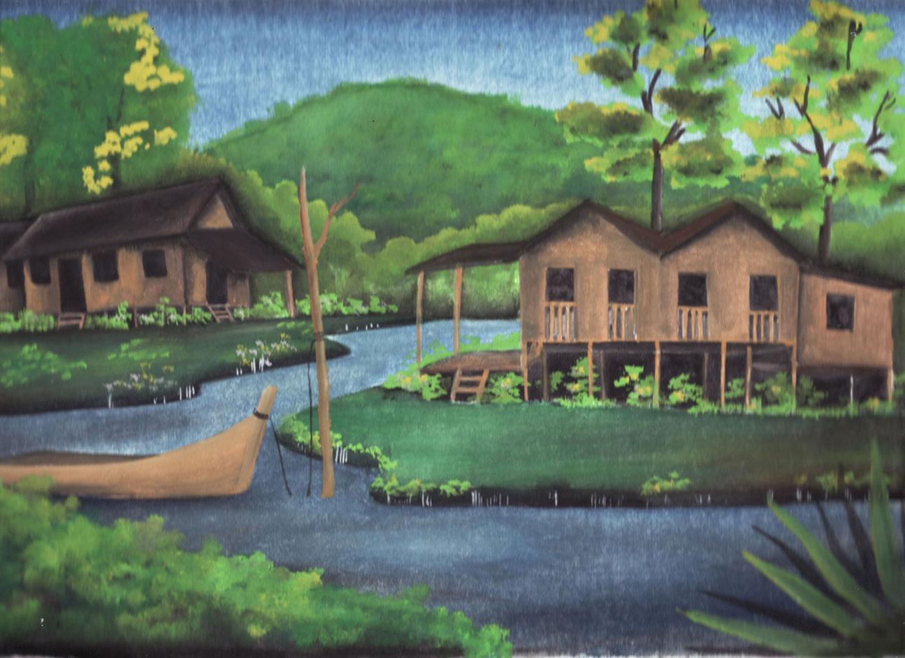 pin lukisan pemandangan di desa i2 pelautscom on pinterest