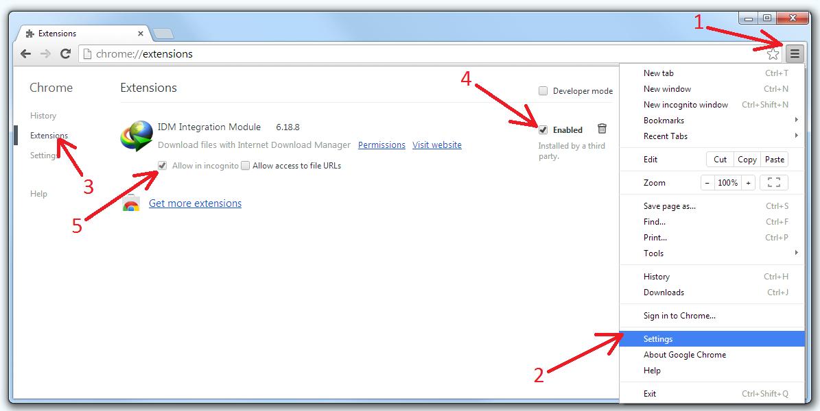 how to install idm plugin in google chrome