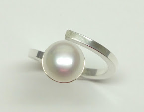 The beauty of silver with fresh water pearls.