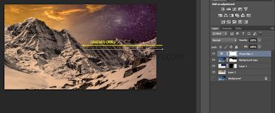 seimbangkan cahaya gambar dengan gradient tool