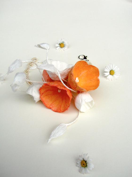 Eco gioielli : bracciale per matrimonio color arancione