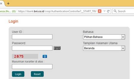 Biaya Admin Internet Banking BNI