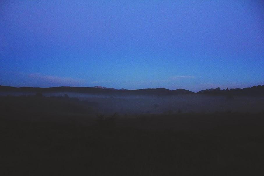 mgła zima w chorwacji