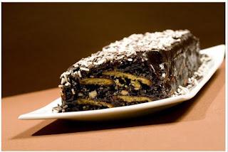 Božićni panj Makronova recepti za kolače i torte slike