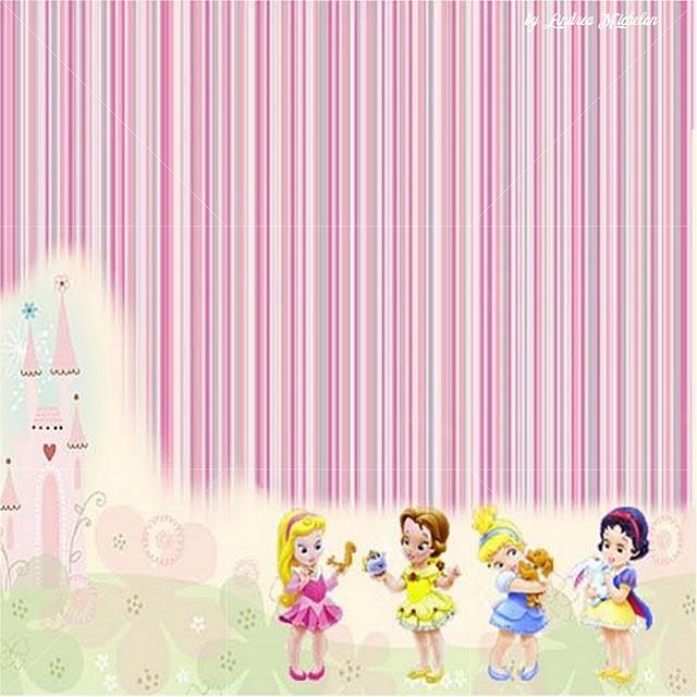 Caixinha Princesas Baby (fundo e tampa)