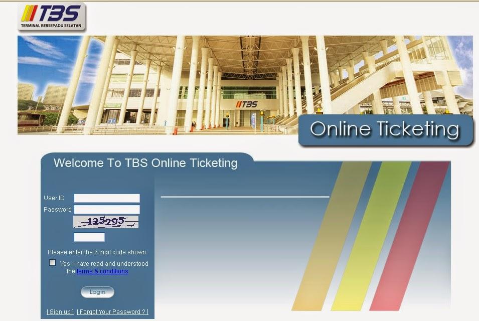 Beli tiket bas online di TBS eticketing