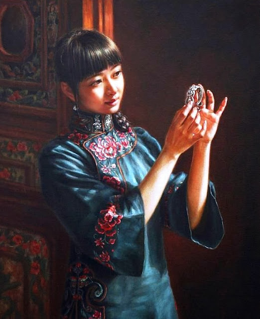 mujeres-orientales-oleo