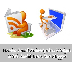Add Email Subscription Box In Header With Social Icons