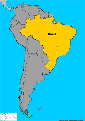 Ubicacin de Brasil en Amrica del Sur