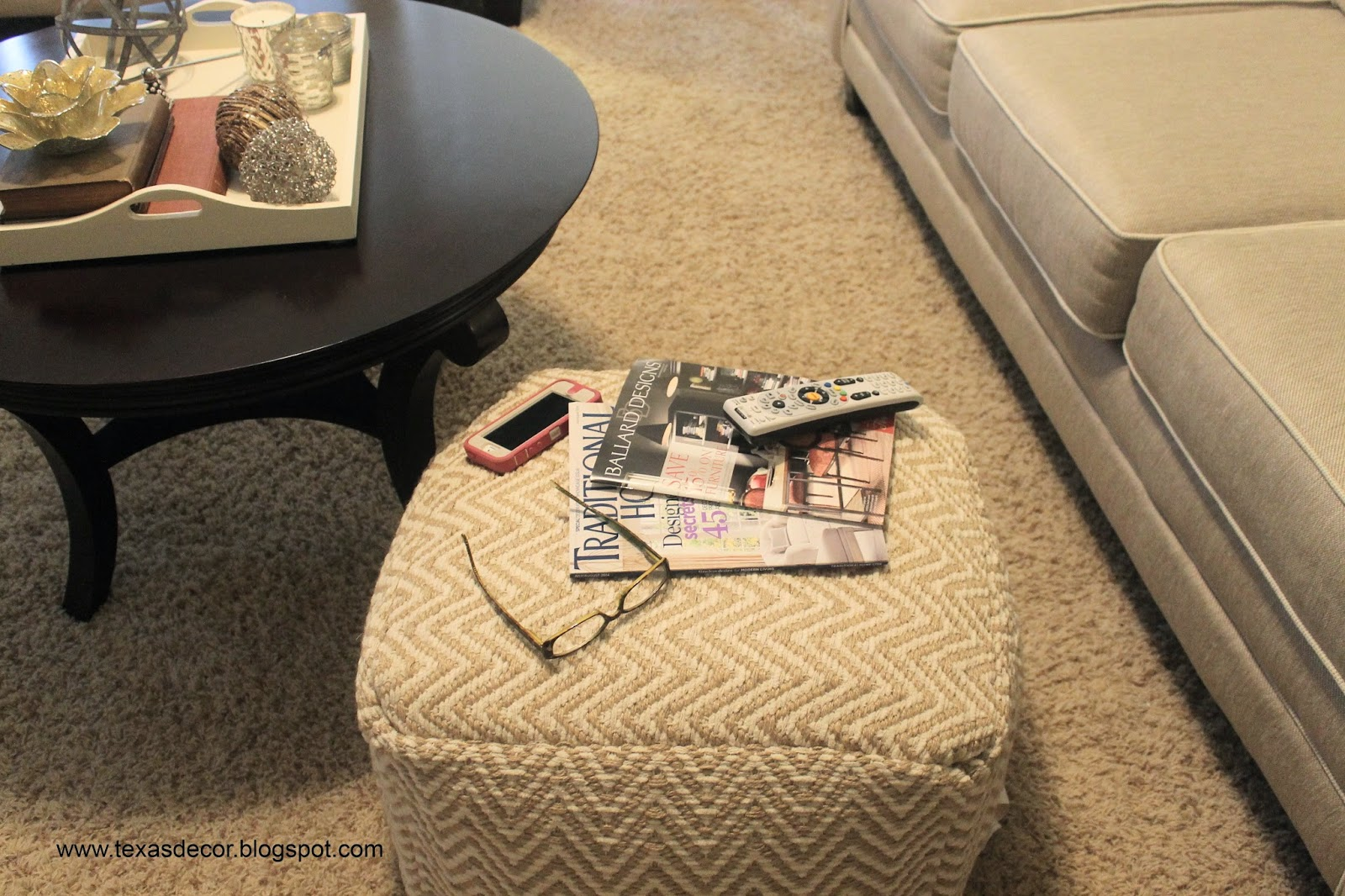 threshold zigzag pouf