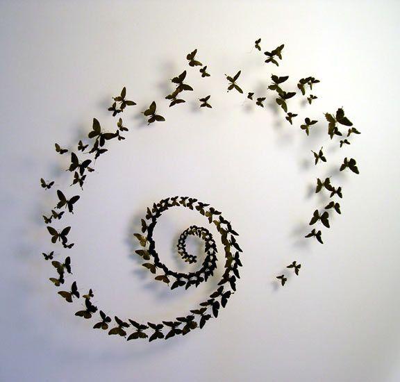 Декор из бабочек своими руками