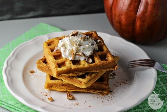 Pumpkin Spice Buttermilk Waffles