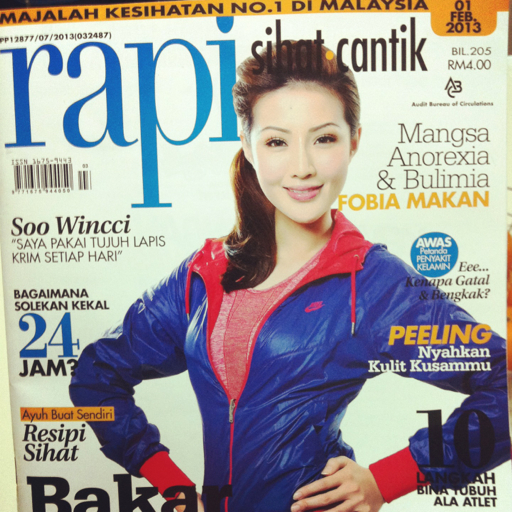 Cover girl: Soo Wincci on the cover of Rapi Magazine