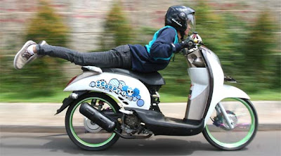 Honda scoopy balap | modifikasi