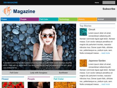 Xin Magazine Wordpress theme