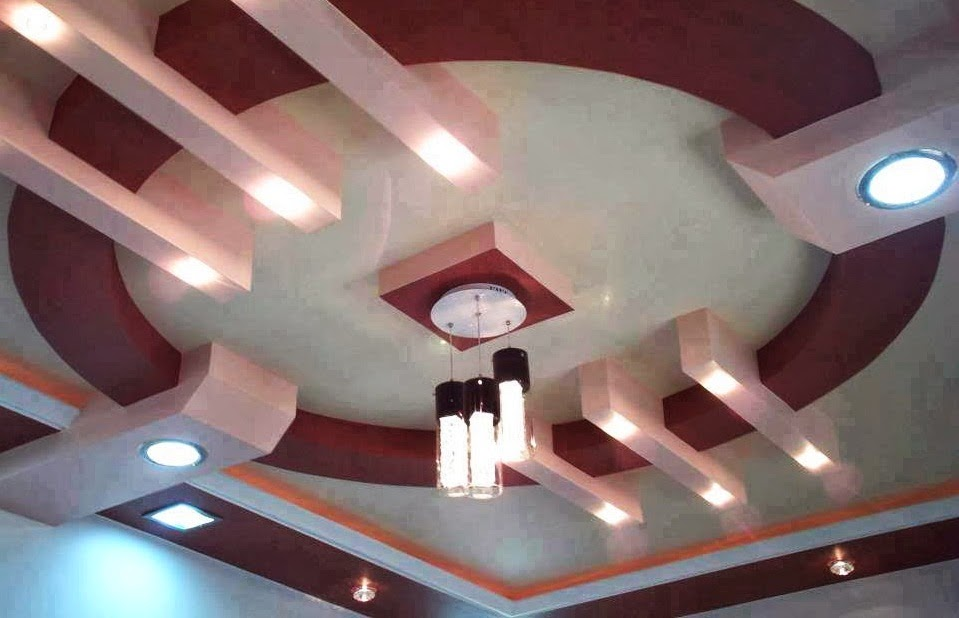 Salon marocaine moderne d coration de faux plafonds for Model de platre plafond