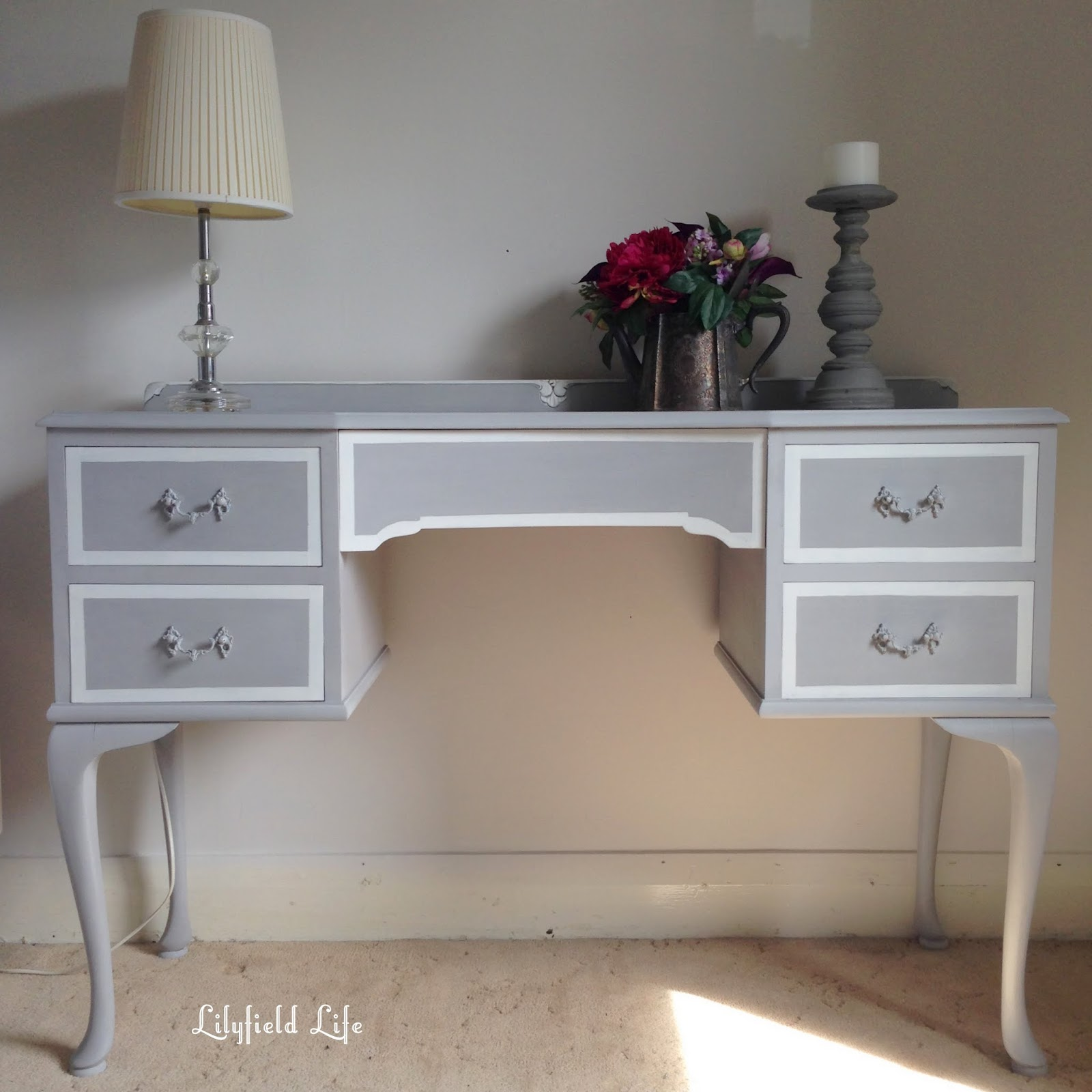 Lilyfield Life painted dressing table ASCP Paris Grey
