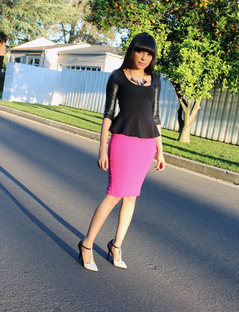 peplum tops with pencil skirt www pixshark images