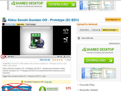 Easy way to Download mp3 from 4shared.com