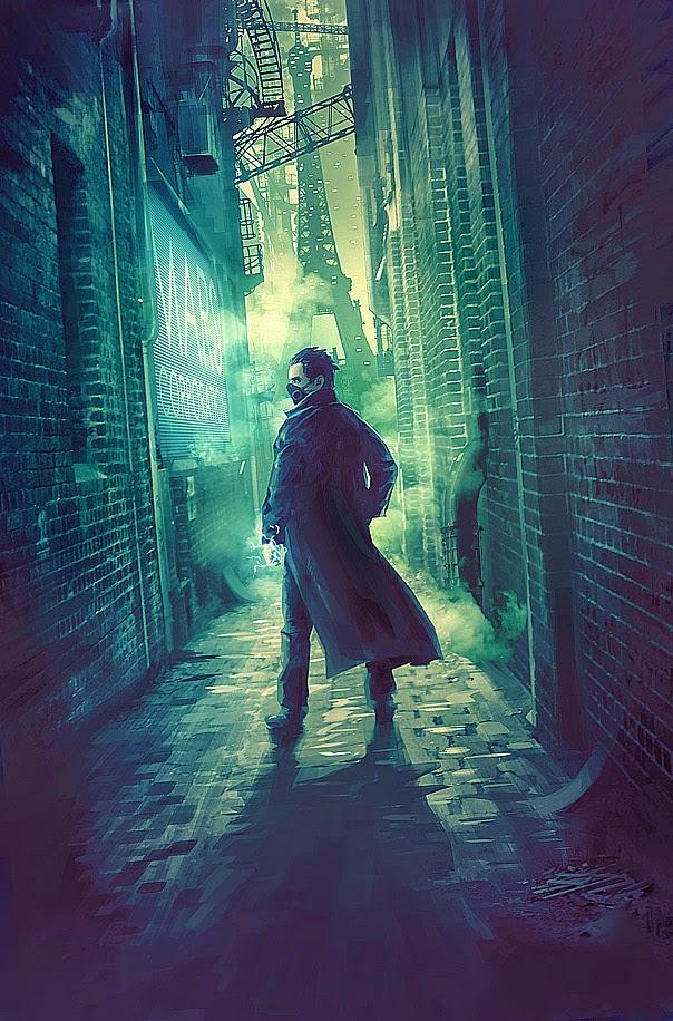 illustration de Sylvain «Tohad» Sarrailh représentant un homme mystérieux dans une ruelle