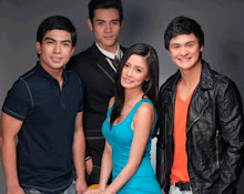 Kim Chiu with leading men Jolo Revilla , Xian Lim and Matteo Guidicelli