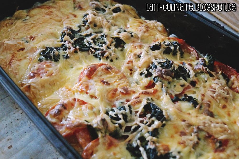 vegetarische tomaten spinat lasagne lieblingsk che. Black Bedroom Furniture Sets. Home Design Ideas