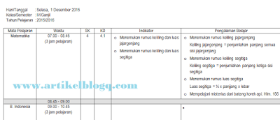 gambar format jurnal harian guru