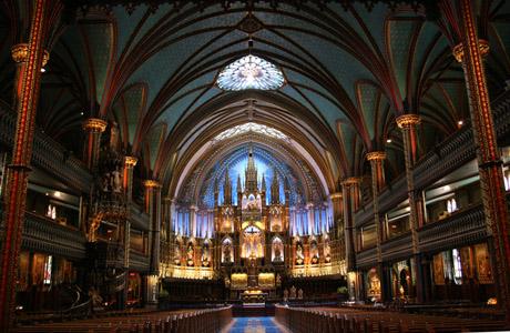Basílica de Notre-Dame, Montreal, Quebec, Canada