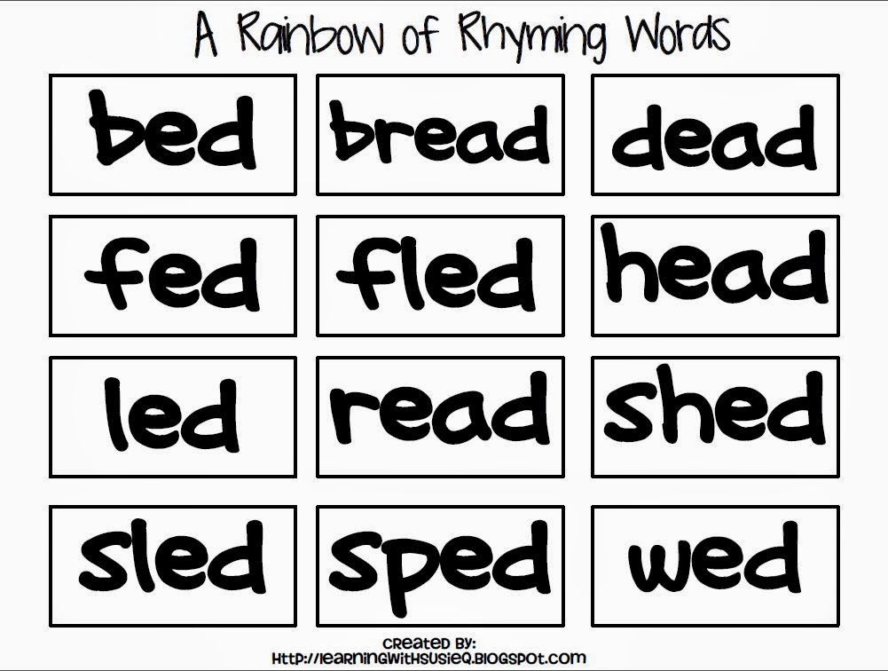 Worksheet Rhyming Words Examples english honori garcia words that rhyme rhyme