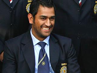 Smiling Mahendra Singh Dhoni