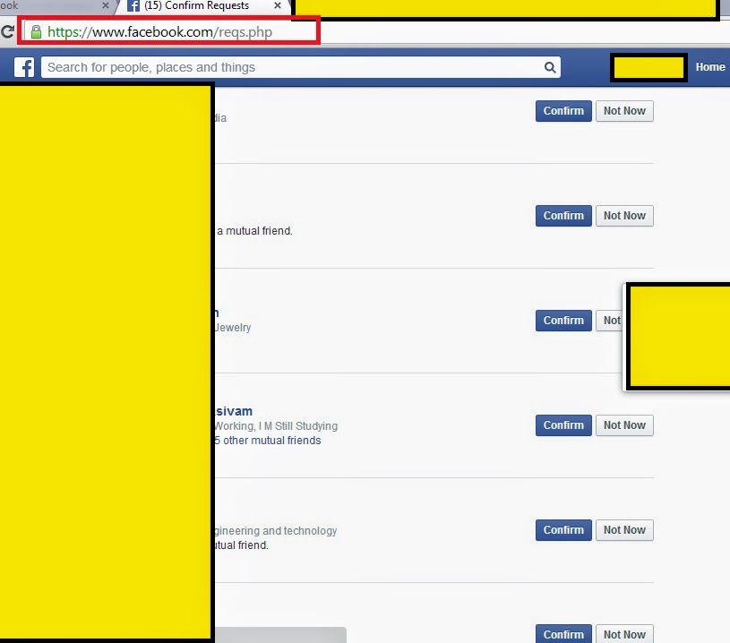 how to facebook friend request cancel