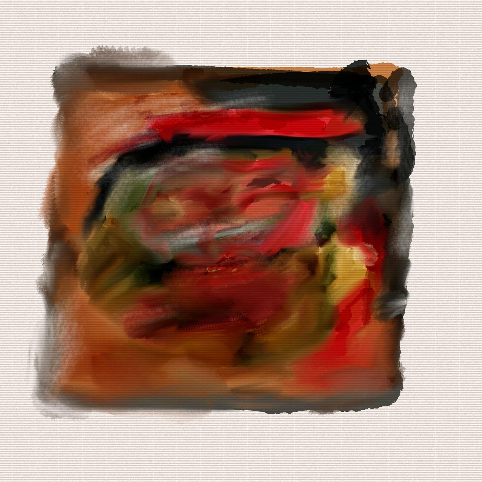 Misto de técnica seca e úmida da aquarela em meio digital com um suporte parecido ao papel tipo Ingres, realizado no Gimp.