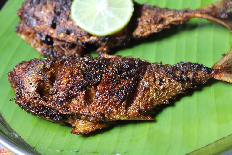 ayala fry recipe / mackerel fry recipe / curry leaves fish fry recipe