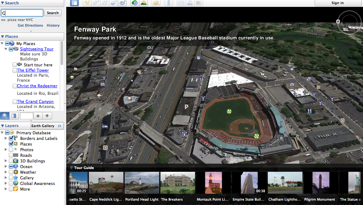 Google Maps Fly Over Tours