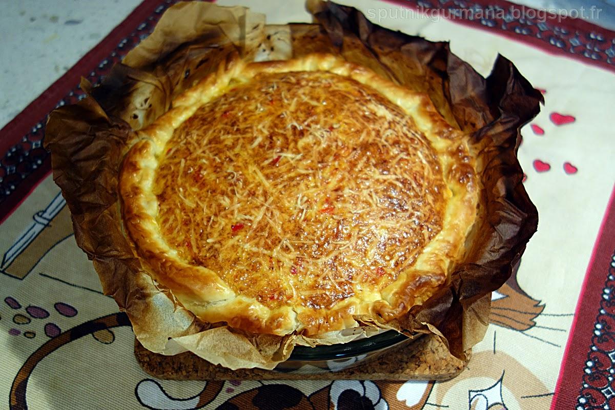 Тарт с тунцом-приготовление