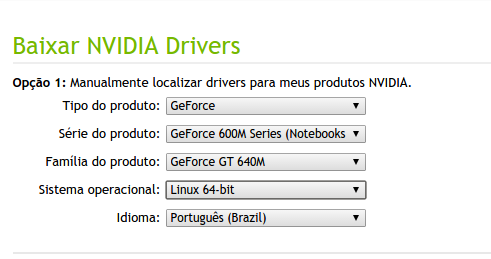 Drivers de Vídeo Nvidia para Ubuntu