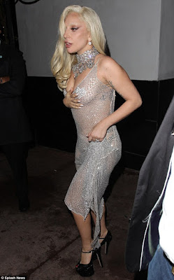 lady Gaga steps out in see-through sequined dress for dinner date