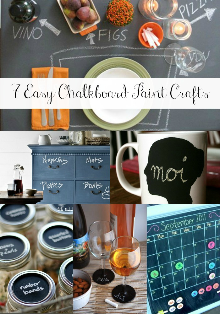 Goodwill Tips 7 Easy Chalkboard Paint Crafts