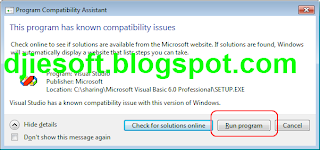 Cara Install Visual basic 6 di Windows 7 (Compability)