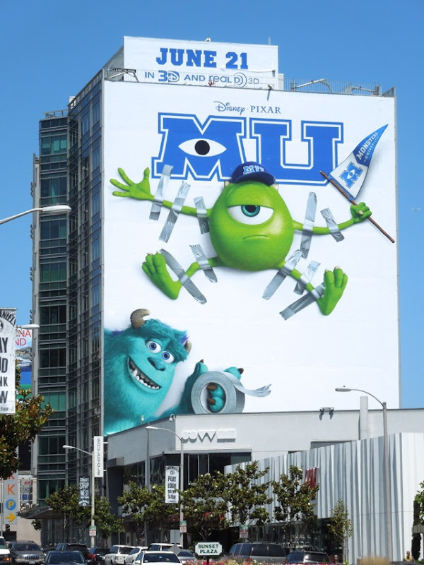 Giant Monsters University movie billboard
