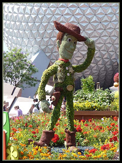 Woddy from Toy Story Topiary