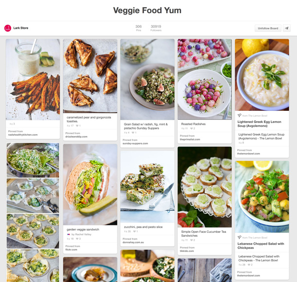 Veggie Food Yum Pinterest Board