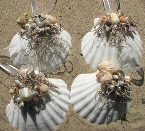 Seashell christmas ornaments sally lee by the sea - Seashell ornaments to make ...